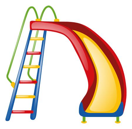 colorful slide: Colorful slide on white background illustration