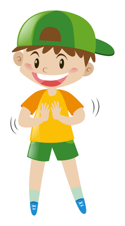 Boy with big smile illustration
