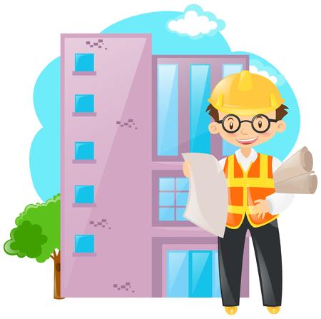 foreman: Foreman working on building illustration