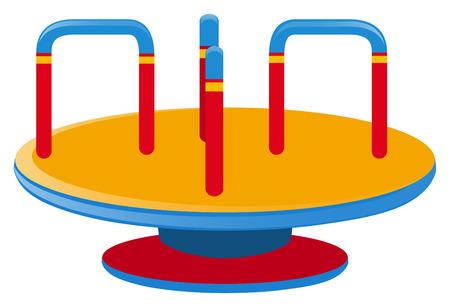 Roundabout on white background illustration Illustration