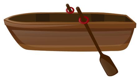 rowboat: Rowboat with two oars illustration Illustration