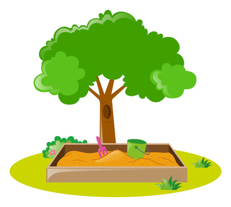 sandbox: Sandbox in the park illustration