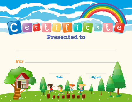children certificate templates