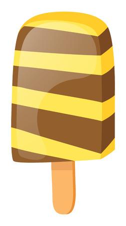 wooden stick: ice cream on wooden stick illustration