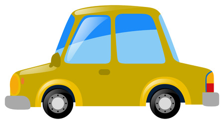 yellow car: Yellow car on white background illustration Illustration