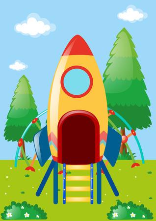 playstation: Rocket playstation in park illustration