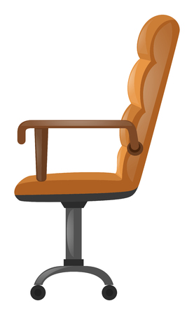 leather armchair: Armchair with brown leather illustration