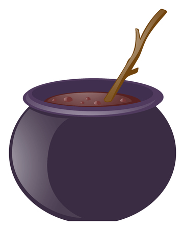 wooden stick: Witches brew and wooden stick illustration Illustration