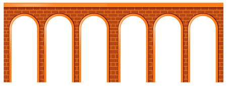 Bridge made of brick stones illustration