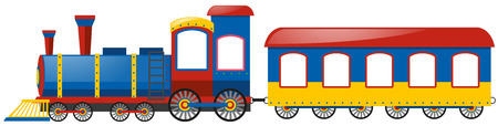 bogie: Train and single bogie on white background illustration