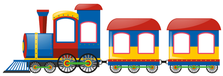 Train with two bogies illustration