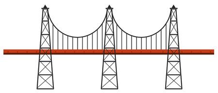Bridge design on white background illustration