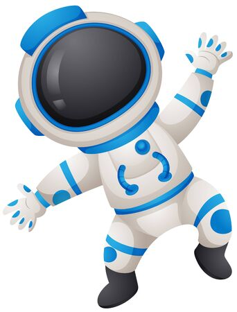 spaceman: Spaceman in uniform on white background illustration Illustration