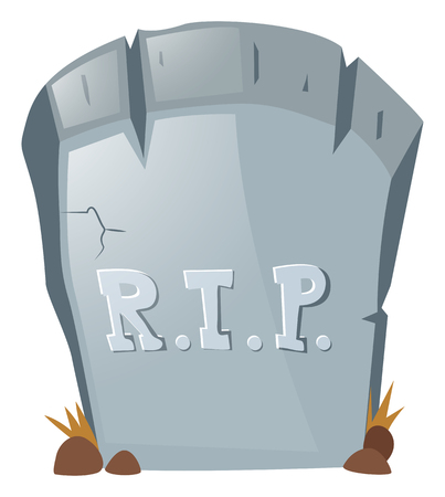 grave stone: Rest in peace on grave stone illustration