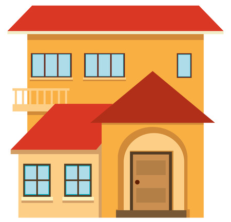 red roof: House with red roof illustration