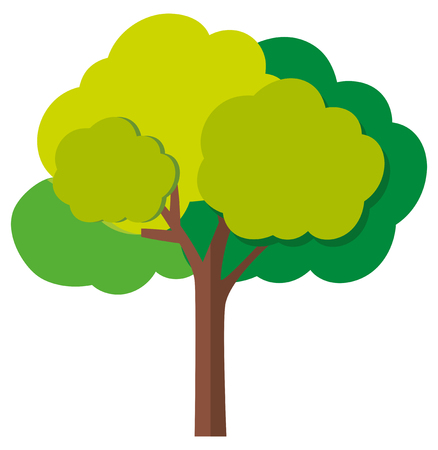 bark: Green tree with branches illustration