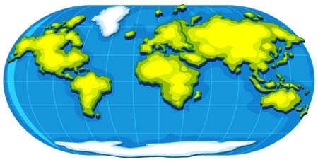 geography: Geography poster with world map illustration Illustration