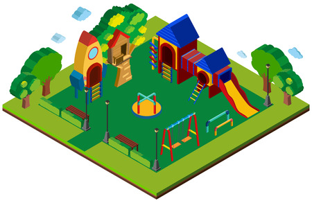 3D design for playground illustration Illustration