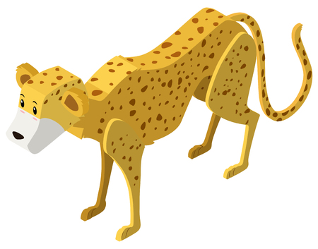 3D design for cheetah tiger illustration Illustration