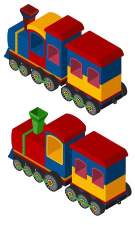 3D design for trains illustration