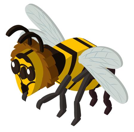 3D design for bee flying illustration