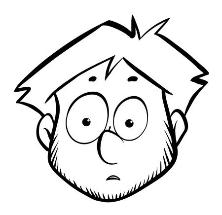 Man with shocking face illustration Illustration