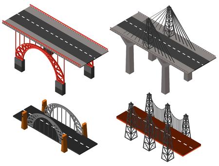 Different designs of bridges illustration