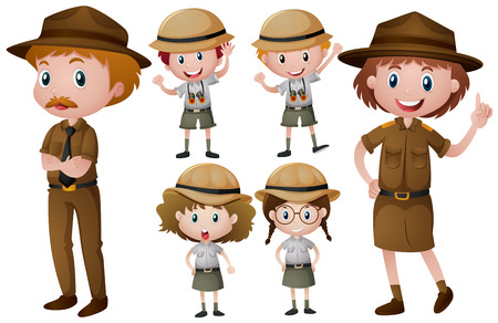 Park Ranger in Uniform Illustration