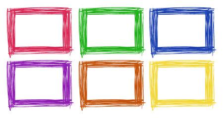 Frame design in six color illustration