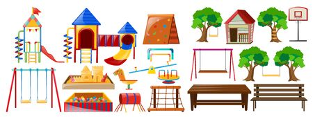 Different types of play stations  illustration