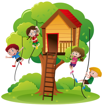 397 Child Climbing Tree Stock Vector Illustration And Royalty Free