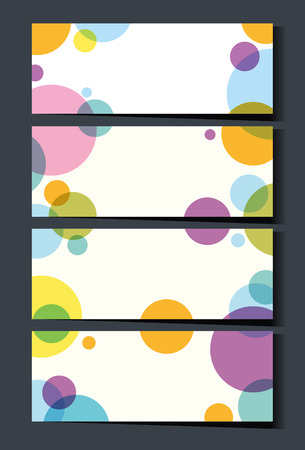 businesscard: Businesscard template with colorful circles illustration