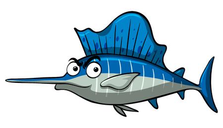 Swordfish on white background illustration