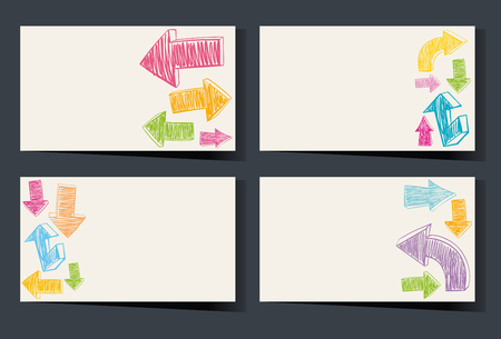 businesscard: Businesscard template with colorful arrows illustration