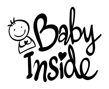 Word expression for baby inside illustration