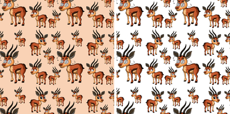 Seamless background with little deers illustration