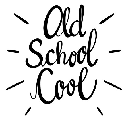 old english: English phrase for old school cool illustration Illustration