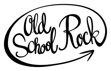 old english: English phrase for old school rock illustration Illustration