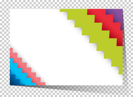 businesscard: Businesscard template with colorful zigzag lines illustration Illustration