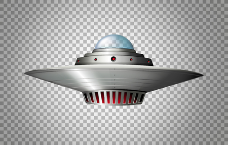Spacecraft design on transparent background illustration Ilustrace