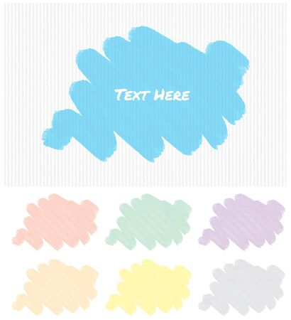 Label template with different color brushstrokes illustration Illustration
