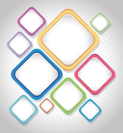 Design de fond avec illustration de carrés colorés Banque d'images - 87052594