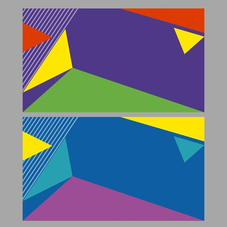 businesscard: Two background design with abstract colors illustration