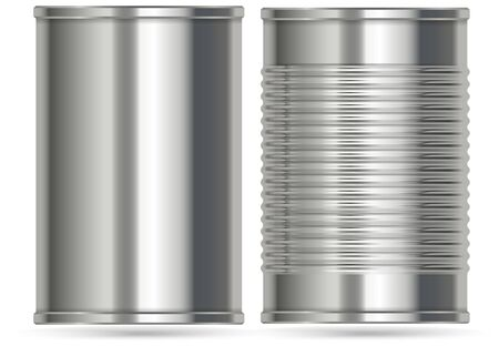 Aluminum cans in two different designs illustration