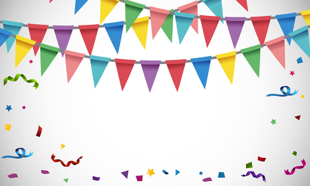 celebrate: Background template with colorful flags illustration