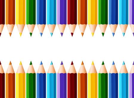 Namecard design with many color pencils illustration Illustration