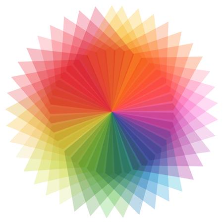 Rainbow color in star shape illustration Illustration