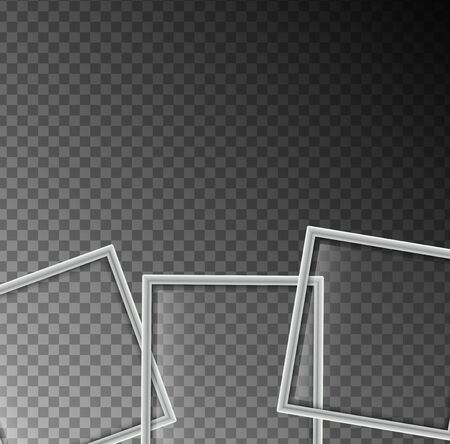 paper background: Background template with three white squares illustration