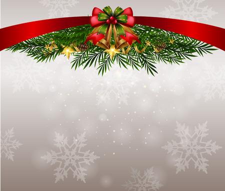 Background theme with snowflakes on christmas illustration 일러스트