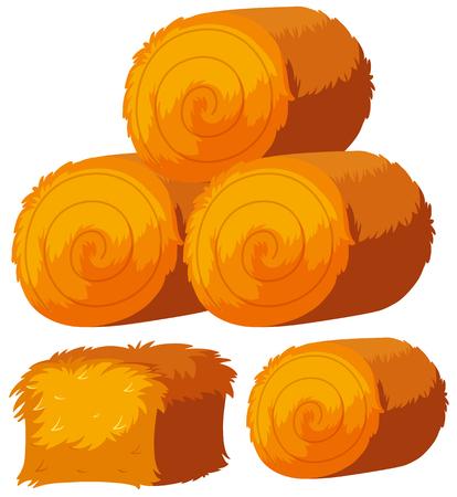haystacks, 벡터 일러스트 레이 션의 다른 모양입니다. 일러스트
